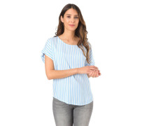 "Blusenshirt ""Cheeky""treifen-Muster, High-Low-Saum"