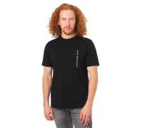 T-Shirt Brusttasche Logo-Stickerei