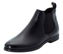 Chelsea Boots, unifarben, elastischer Einsatz