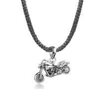 Halskette Mann Schlangenkette Motorrad Anhänger 5