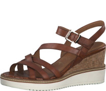 Sandaletten, Keilabsatzeder,