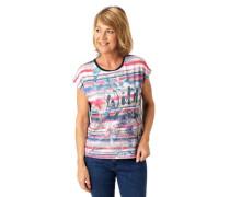 T-Shirt Rundhalsausschnitt florales Muster
