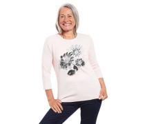 Shirt 3/4-Arm floral Strass