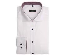 Businesshemd Modern Fit Kent-Kragen Kontrastknöpfe Baumwolle