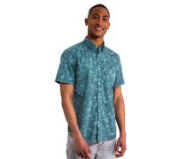 Freizeithemd tropisches Allover-Muster Baumwolle