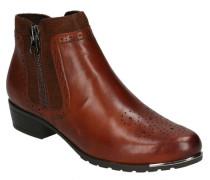 Boots, Glattlederyra-Lochung, Reißverschlüsseetall-Detail