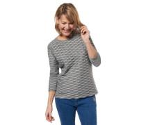 Shirt 3/4-Arm Rüschen gestreift