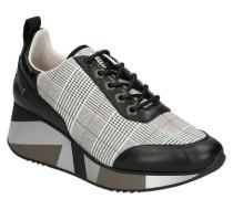 Sneaker, Plateau, Glitzer, kariert, Zugschlaufe