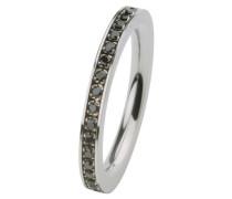 EDvita Ring, Edelstahl, Zirkonia R265.BL