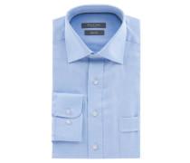 Businesshemd Comfort Fit fein gemustert Brusttasche Kent-Kragen