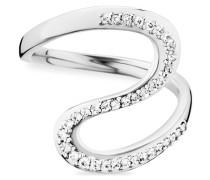 Ring 925/- Sterling Silber rhodiniert Topas