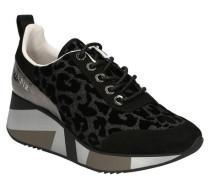Sneaker, Plateau, Animal-Muster, Glitzer, herausnehmbare Sohle