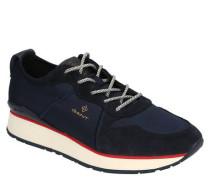"""Sneaker """"Linda"""" Satin Leder-Overlays Kontrastsohle"""