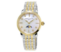 uhr Slimline Ladies Moonphase Quartz FC-206MPWD1S3B