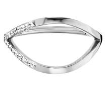 Ring 925/- Sterling Silber rhodiniert Topas, 58