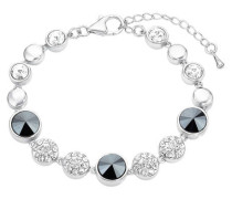 Damen-Armband mit Swarovski® Kristallen rhodiniert