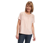 T-Shirt Baumwoll-Anteil Loch-Muster leicht transparent