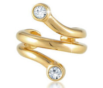 Ohrringe Earcuff Ohrklemme Swarovski® Kristalle 5 Silber