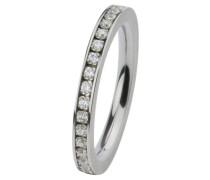 EDvita Ring, Edelstahl, Zirkonia R265.WH