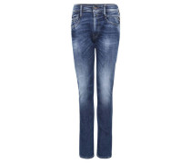 "Jeans ""Anbass"" Slim Fit Used-Look Stretch-Anteil"