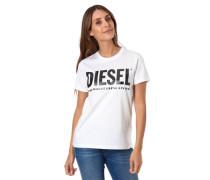 T-Shirt Logo-Print reine Baumwolle