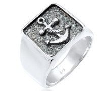 Ring Siegelring Anker Basic Oxidiert 5  mm