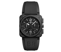 """uhr """"BLACK MATTE"""" BR0394-BL-CE Chronograph"""