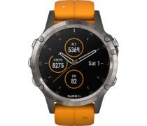 "Smartwatch fenix® 5 Plus Sapphire Titanium ""010-01988-05"""