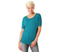 T-Shirt Gummibund Rollsaum überschnittene Schulter