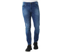 Jeans Destroyed-Look Waschung Baumwoll-Stretch