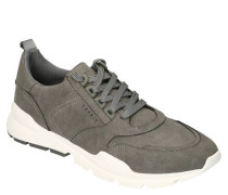 Sneaker, Label-Prägung, gepolstert, Nubuklederimitat, Kontrastsohle