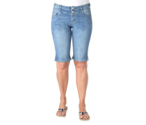 Jeans-Shorts Slim Fit Waschung
