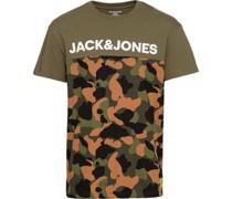 T-Shirt mit Army-Print und Logo XL