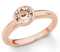 Ring mit Swarovski-Kristall 5er Silber rosévergoldet