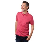 Poloshirt Kurzarm fein gepunktet Brusttasche Baumwolle
