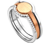 """Ring Fuse """"ESRG003012"""" 5er Silber"""
