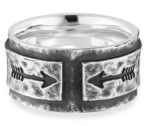 Ring 925/- Sterling Silber rhodiniert matt Pfeile, 62