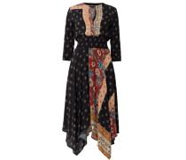 Kleid mit Print, dunkel/