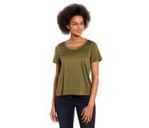 T-Shirt Streifen-Kragen