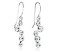 Ohrringe Tropfen Glamour Swarovski® Kristalle 5 Silber