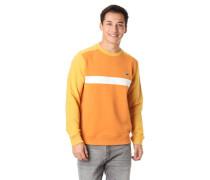 Sweatshirt, Colourblocking, reine Baumwolle, Logo-Stickerei