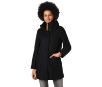 Mantel, doppelter Kragen, Woll-Anteil, für Damen