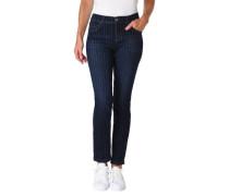 Jeans Regular Fit Nadelstreifen Baumwoll-Mix
