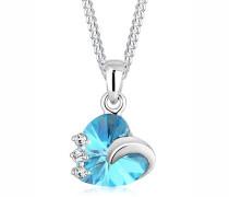 Halskette Herz Swarovski® Kristalle 5 Silber Tesoro