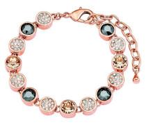 Armband mit Kristallen rosevergoldet Rosegold