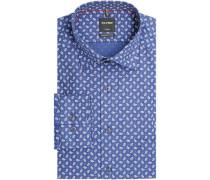 Businesshemd, 1/1 Arm, Kentkragen, modern fit, gemustert, /rot, 40