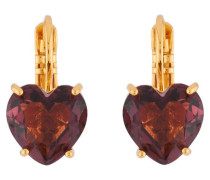 "Ohrhänger ""La Diamantine Plum Heart"" AILD145D/1 vergoldet"