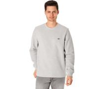 Sweatshirt, Rundhals-Ausschnittabel-Stickerei,