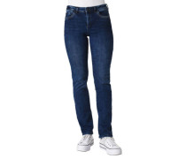 Jeans, Straight Leg, Stickerei, Label-Patch