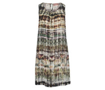 Kleid, Kurz, Ärmellos, U-Ausschnitt, Batik,